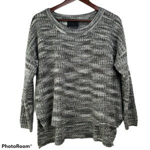 Harlowe & Graham Sweater Gray High Low Pullover